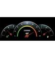Speedometer Temperature indicator and fuel vector image