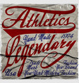 athletic t-shirt graphic vector image