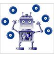blue robot vector image