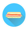 hot dog flat vector image