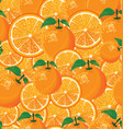 a seamless background oranges vector image