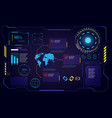 abstract future hud ui gui interface screen hi vector image vector image