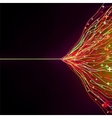 Abstract glowing motion vector image