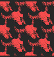 abstract seamless pattern with bull or cow vector image