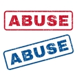 Abuse Rubber Stamps vector image vector image