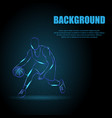 basketball man background vector image vector image