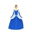 beautiful princess of fairy tale kingdom wearing vector image vector image