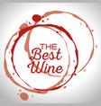 best wine label vector image vector image