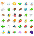 biology icons set isometric style vector image vector image
