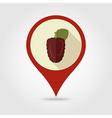 Blackberry bramble flat pin map icon Berry fruit