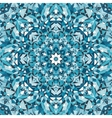 blue circular kaleidoscope pattern vector image vector image