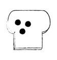 bread slice icon image vector image vector image