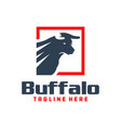 bull shield emblem logo vector image vector image