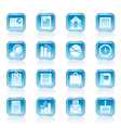 Business and Office Realistic Internet Icons vector image vector image