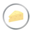 Cheese icon cartoon Single bio eco organic vector image vector image