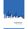 cityscape blue vector image vector image