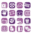 color cinema icons setjpg vector image vector image