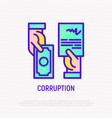 corruption icon agreement in exchange money vector image