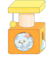 cute british cat in the cat house vector image vector image