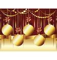 Decorative Gold Xmas Balls2 vector image vector image