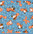 dinosaurs seamless pattern for kids creative vector image vector image