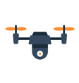 drone flat icon fly and copter vector image vector image
