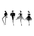 fashion models sketch hand silhouette pop art vector image