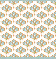 floral pendant shape seamless pattern soft blue vector image vector image