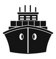 front container ship icon simple style vector image vector image