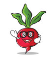 geek radish character cartoon collection vector image vector image