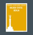 golden statue berlin germany monument landmark vector image