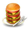 hamburger 10 vector image vector image
