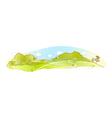 Idyllic landscape background vector image
