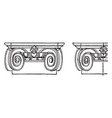 ionic capital chapiter forms the topmost member vector image vector image