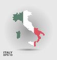 italy map with flag inside vector image