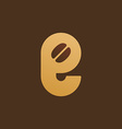 Letter E coffee logo icon design template elements vector image vector image