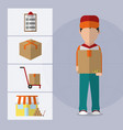 logistics and transportation design vector image