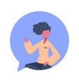 man character chat bubble male avatar isolated vector image