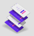 mobile app ui sign in and sign up screens 3d vector image vector image