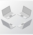 mockup laptop isometric vector image vector image
