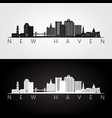 new haven usa skyline and landmarks silhouette vector image vector image