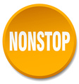 nonstop orange round flat isolated push button vector image vector image