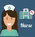 nurse medical hospital service 24-7 vector image vector image