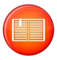 Open book with a bookmark icon flat style vector image vector image