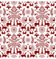 otomi style winter pattern vector image vector image