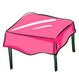 pink coffee table on white background vector image vector image