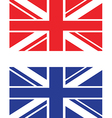 red and blue uk flag vector image vector image
