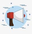 red and white bullhorn icon vector image