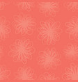 red florals texture seamless background vector image vector image