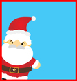 Santa claus on blue background vector image vector image